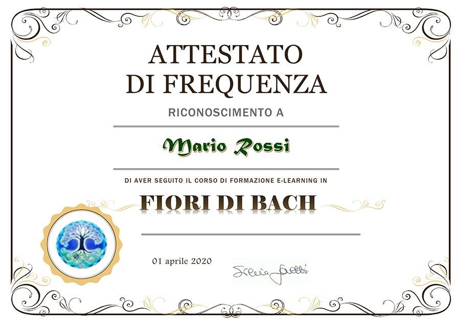 Attestato corsi online Dott.ssa Silvia Giovetti