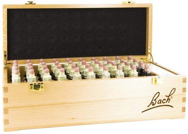 kit fiori di Bach in scatola in legno
